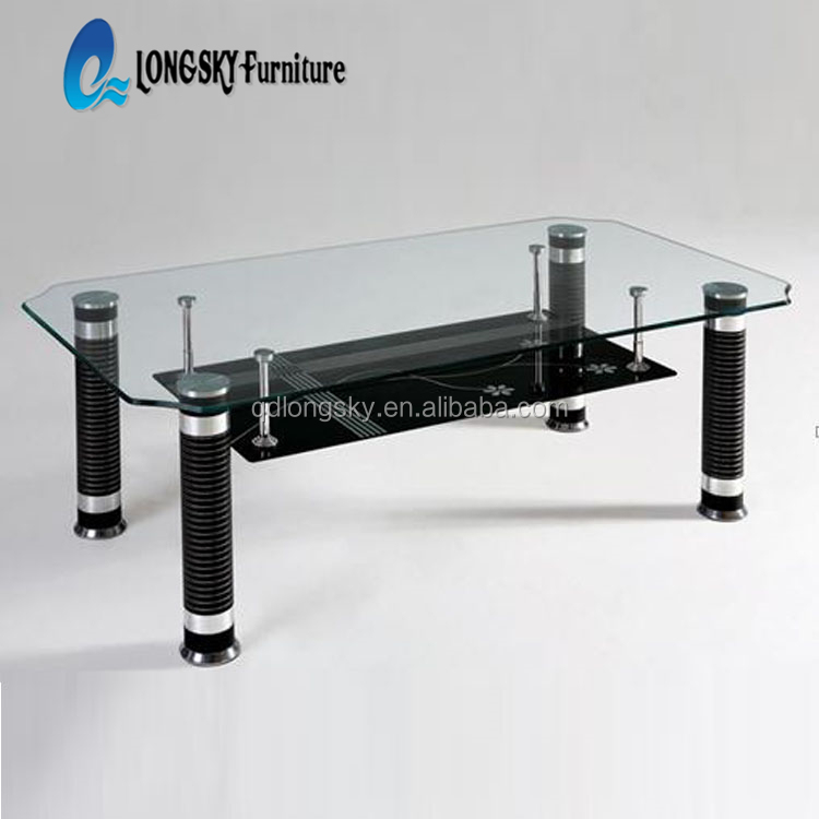 Ls 1010 Glass Top Center Table Design Wholesale Modern Coffee Table