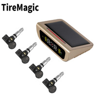 hot selling car TPMS gold solar power internal tire pressure monitoring system for car