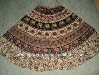 COTTON BAGROO PRINTS SKIRTS FOR WOMENS   GIRLS BAGROO MIDDY CIRCULAR SKIRTS  34 INCH LONG 76d49c67c5