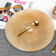 Plated dinner plate tableware saucer creative gold plated peacock fruit plate