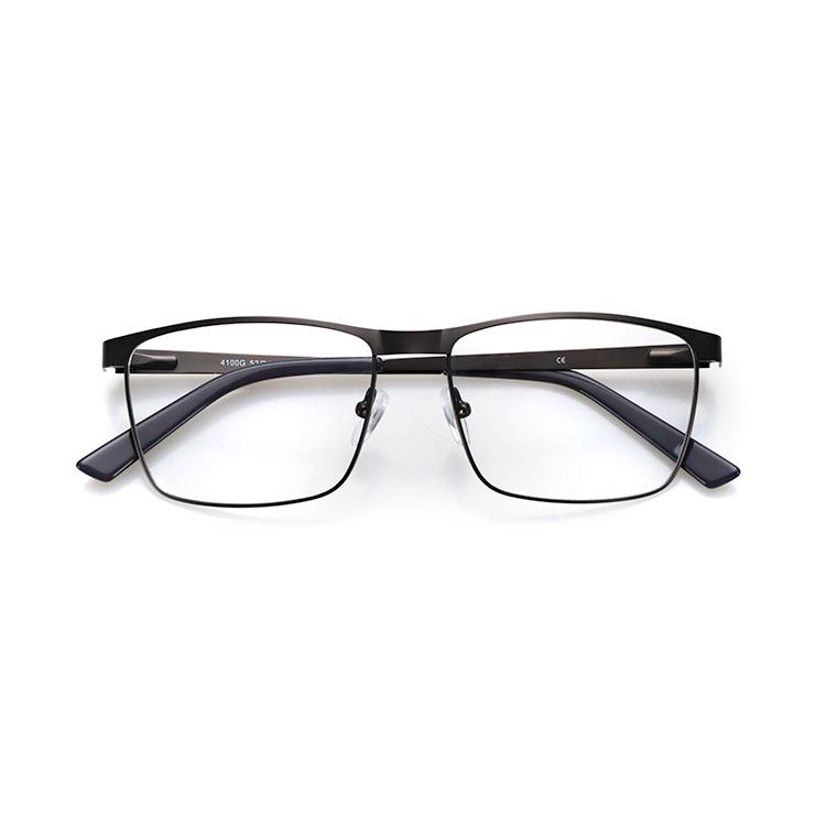 Latest design blue light blocking metal glasses optical frames for men фото