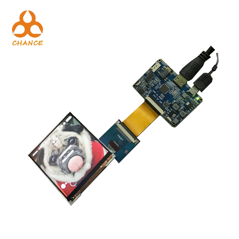 720*720 resolution 3 inch square ips lcd panel with driver board