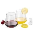 Plastic Stemless Disposable Wine Glasses Stemless White Wine Glass Tumbler