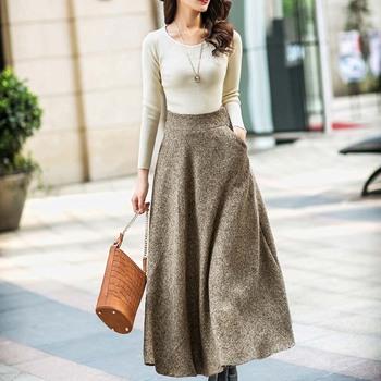w11206 korean style elegant dress women long below knee