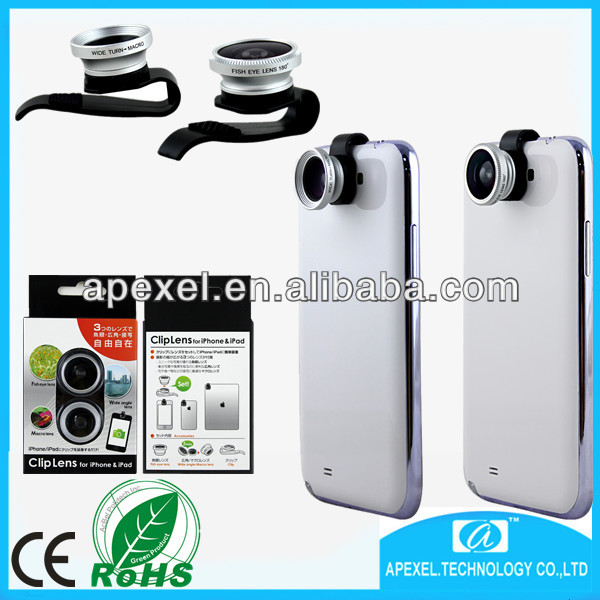 universal clip lens 3 in 1 phone lens,universal 3 in 1 camera lens Macro/Fish/Wide Angle clip lens univsal for all mobile phone