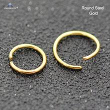 Starbeauty 1 шт., прозрачное кольцо для козелка пирсинг спираль, кольца для перегородки, кольца для носа, пирсинга, поддельные украшения для ушей(China)