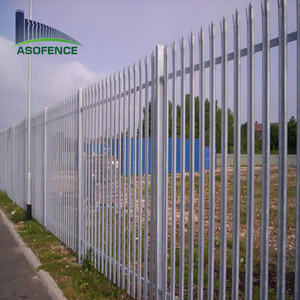 2014palisade steel fence IPE post/green color palisade fence
