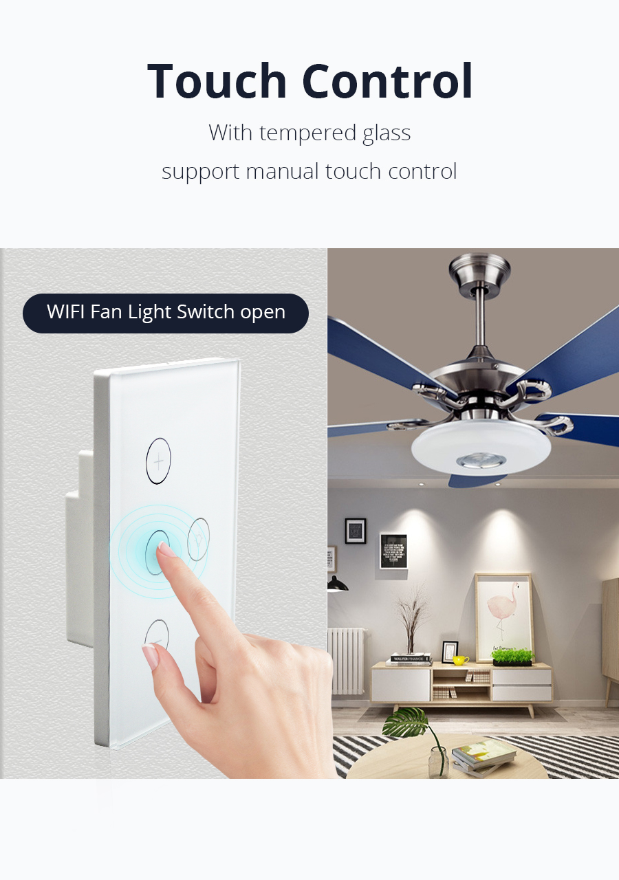 Saa Alexa Google Wifi Ventilador Interruptor De Luz Para Australia - Buy  Interruptor De Luz De Ventilador,Interruptor De Ventilador De  Luz,Interruptor