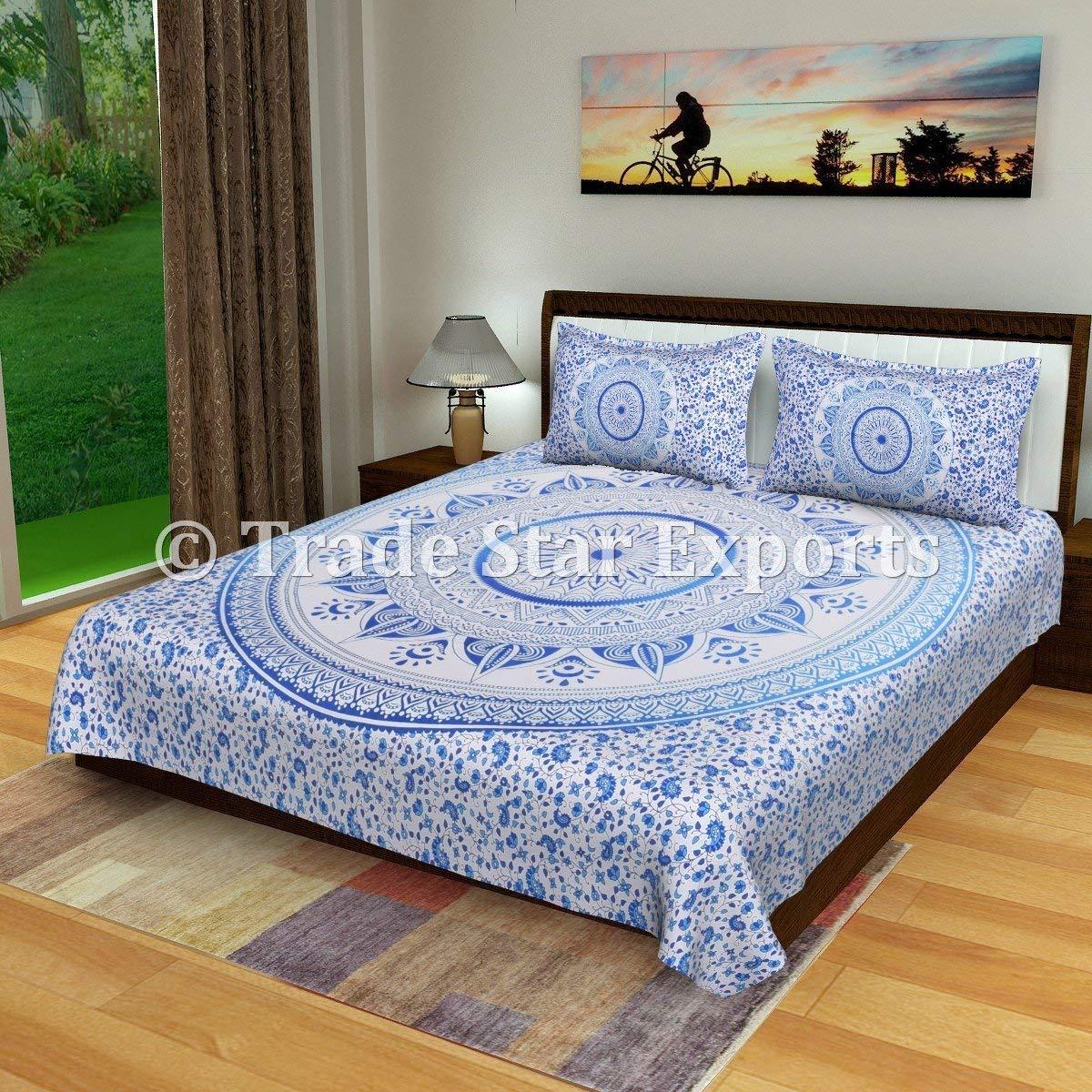 Home Bedding flat sheet set Indian Mandala Bedding Set Cotton Single Size Tapestry Bed Set Twin Kids Bedding