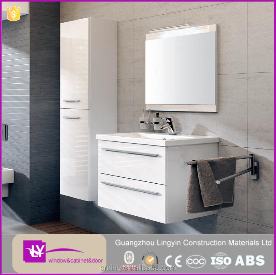 Badkamer wastafelmeubel massief hout vanity aangepaste vanity combo badkamer ijdelheden product - Aangepaste kast ...