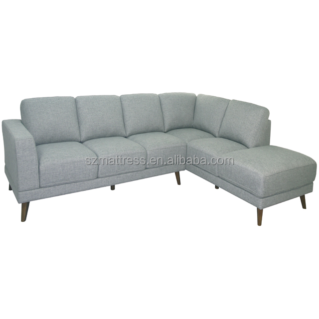 Fair Price Home Furniture Modern Fabric Sofa Set With Wooden Legs For  Living Room And Large