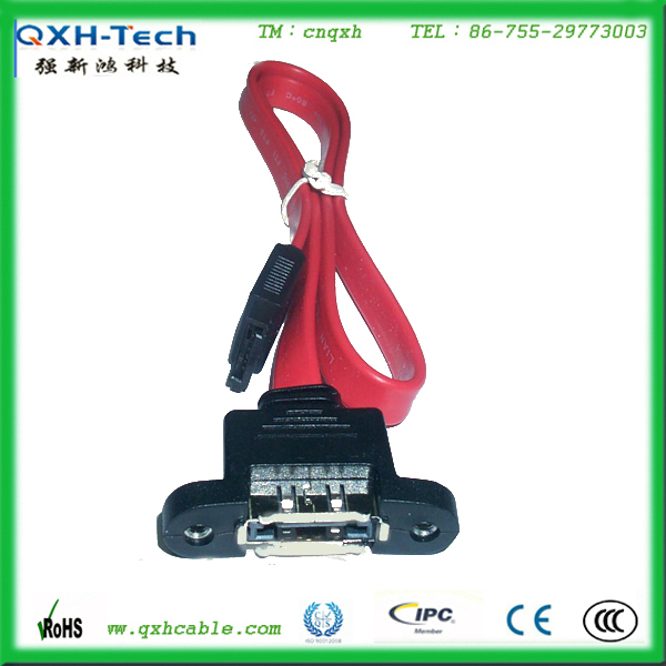 Factory Supply 30cm Male Pug With Mount Panel to Sata Cable