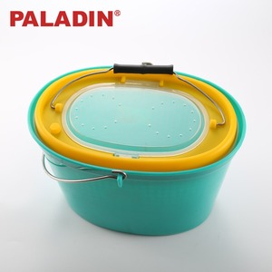 PALADIN PVC Different Volume Round Fishing Bait Boxes / Buckets / Drums for Living Natural Bait Fishing