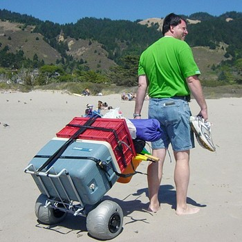 Collapsible beach cart buy folding beach cart product on for Beach fishing carts
