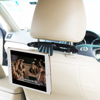 Magnetic car headrest mount holder for tablet