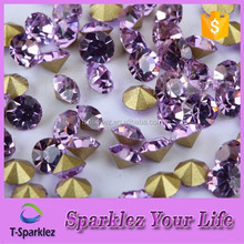 Guangzhou lace Garment Accessories Violet Rhinestone Crystal for Fashion