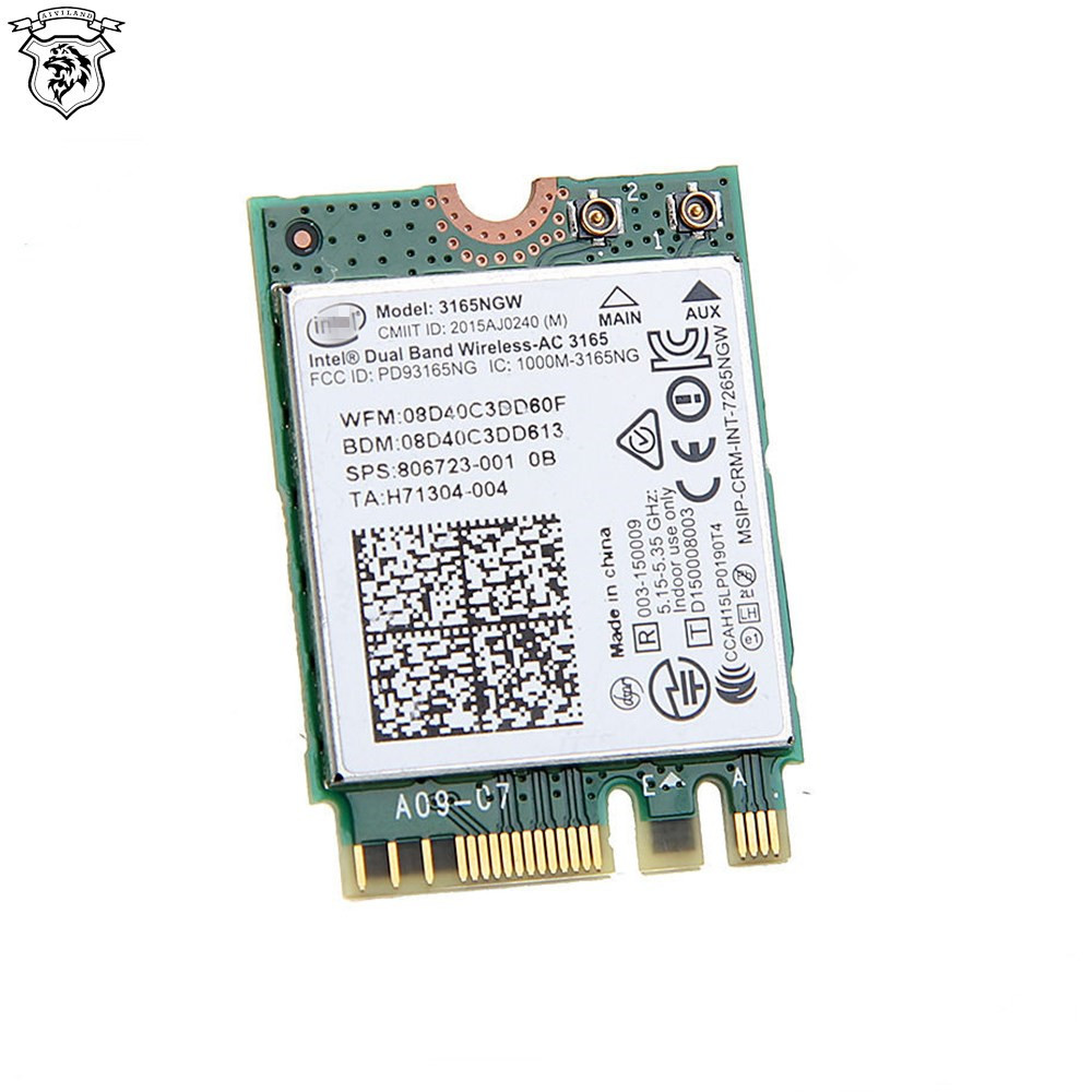 Wholesale High Quality Dual Band Wireless 3165NGW Laptop internal WIFI Card Bluetooth 4.0 network card
