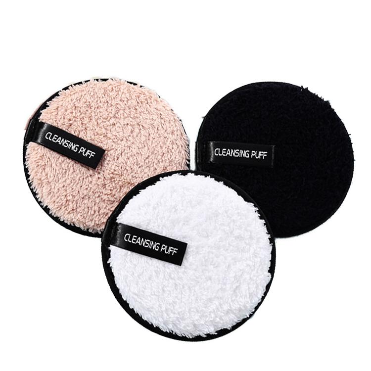 निजी लेबल अतिरिक्त-कोमलता Microfiber कपास पोंछे स्पंज कश चेहरे की सफाई मेकअप पदच्युत