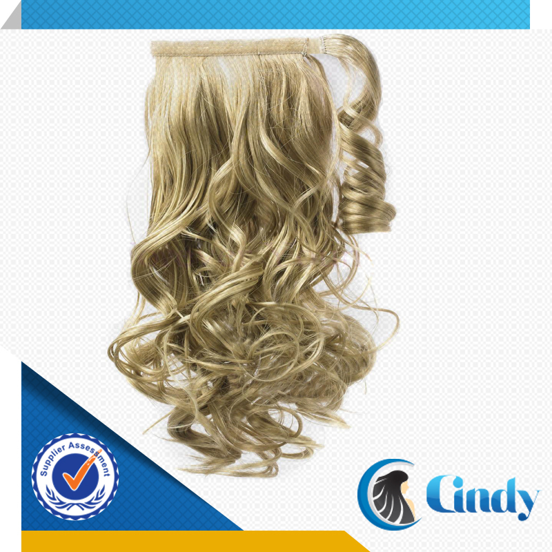 high quality brazilian ash blonde curly remy 100 human hair drawstring ponytail extensions