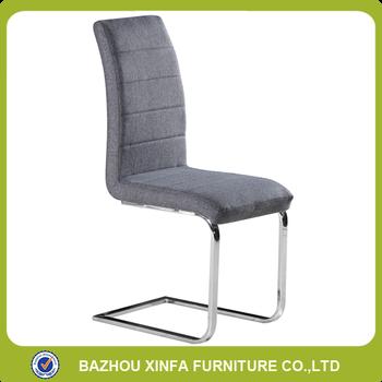 Modern Design High Quality Fabric Metal Chrome Legs Bow Dining Chairs