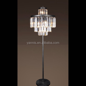 Luxury Indoor Decoration Modern Antique Crystal Chandelier Stand Led Floor Lamp For Home Hotel