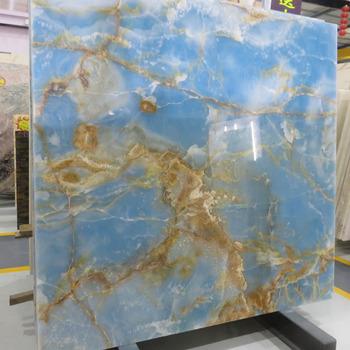 Newstar Oro Vena Prezzo Luce Blu Onice Marmo Sfondo Muro Per Tv E