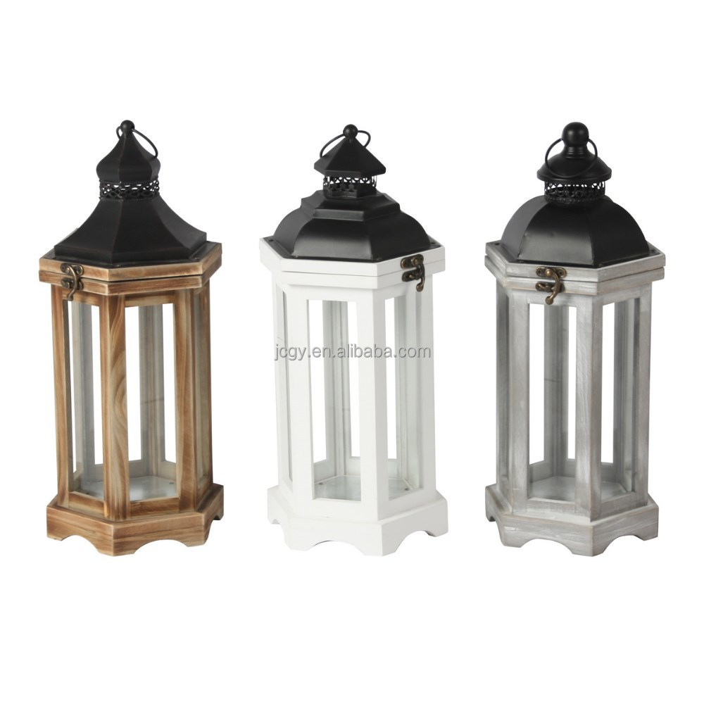 wedding decoration antique wooden garden candle lanterns