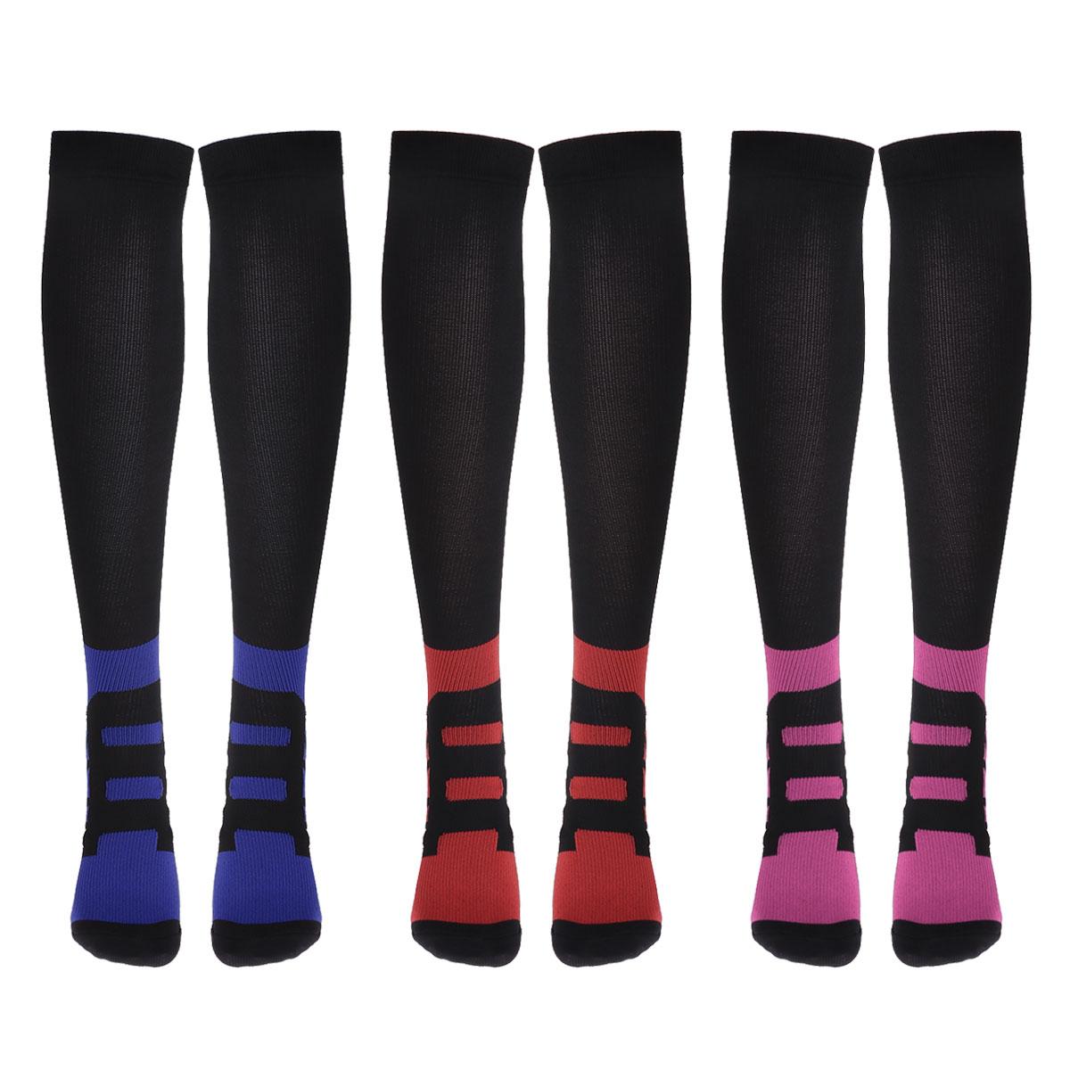 7ec40adda22 2019 Mixed Color Compression Socks Men Women Sports Running ...