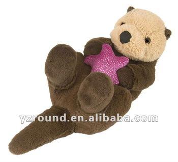 Sea Animal Hug Sea Otter With Red Star Stuffed Plush Buy Animal