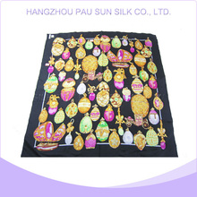 Factory direct sale silk twill square scarf hijabs