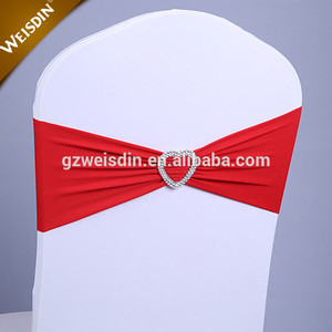 New style spandex elastic wedding chair sashes with buckle for chair cover