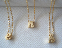 Gold initial charm on gold filled chain necklace simple jewelry everyday bridal jewelry bridesmaid gift best friend gift