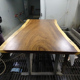 factory direct sell natural live edge table top rotator used for restaurant