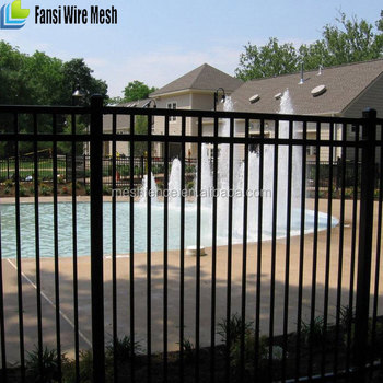 Wrought Iron Railings Modern House Swimming Pool Fence Designs For ...