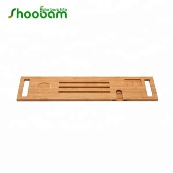 Bamboo Wooden Bathtub Caddy Tray Bathroom Organizer Buy Bamboo