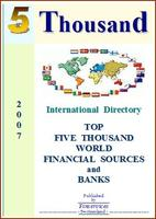 Top 5 Thousand World Financial Sources & Banks 2007