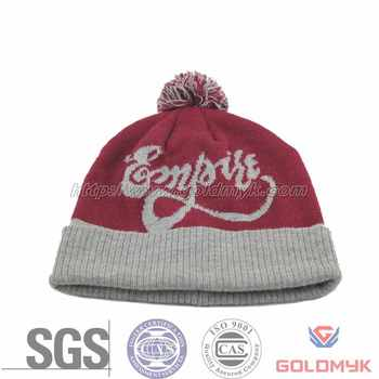 93d6fed2 Custom Winter Hats with Ball on Top