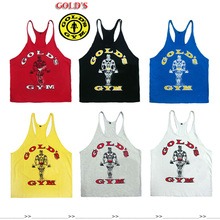 2014 gym vest bodybuilding clothing and fitness men tank tops golds gym brand high quality 100% cotton undershirt