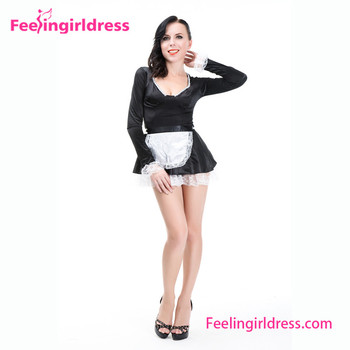 Black White Halloween In Stock Wholesale classic french maid costume  sc 1 st  Alibaba Wholesale & Black White Halloween In Stock Wholesale Classic French Maid Costume ...