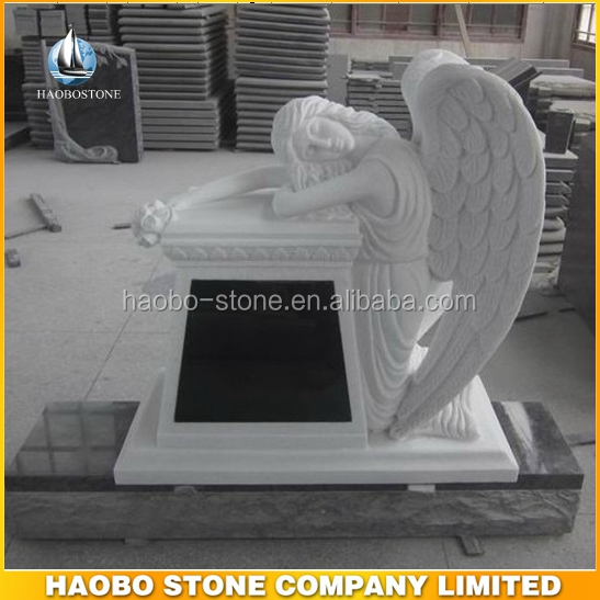 Marble Weeping Angel Headstones Monument