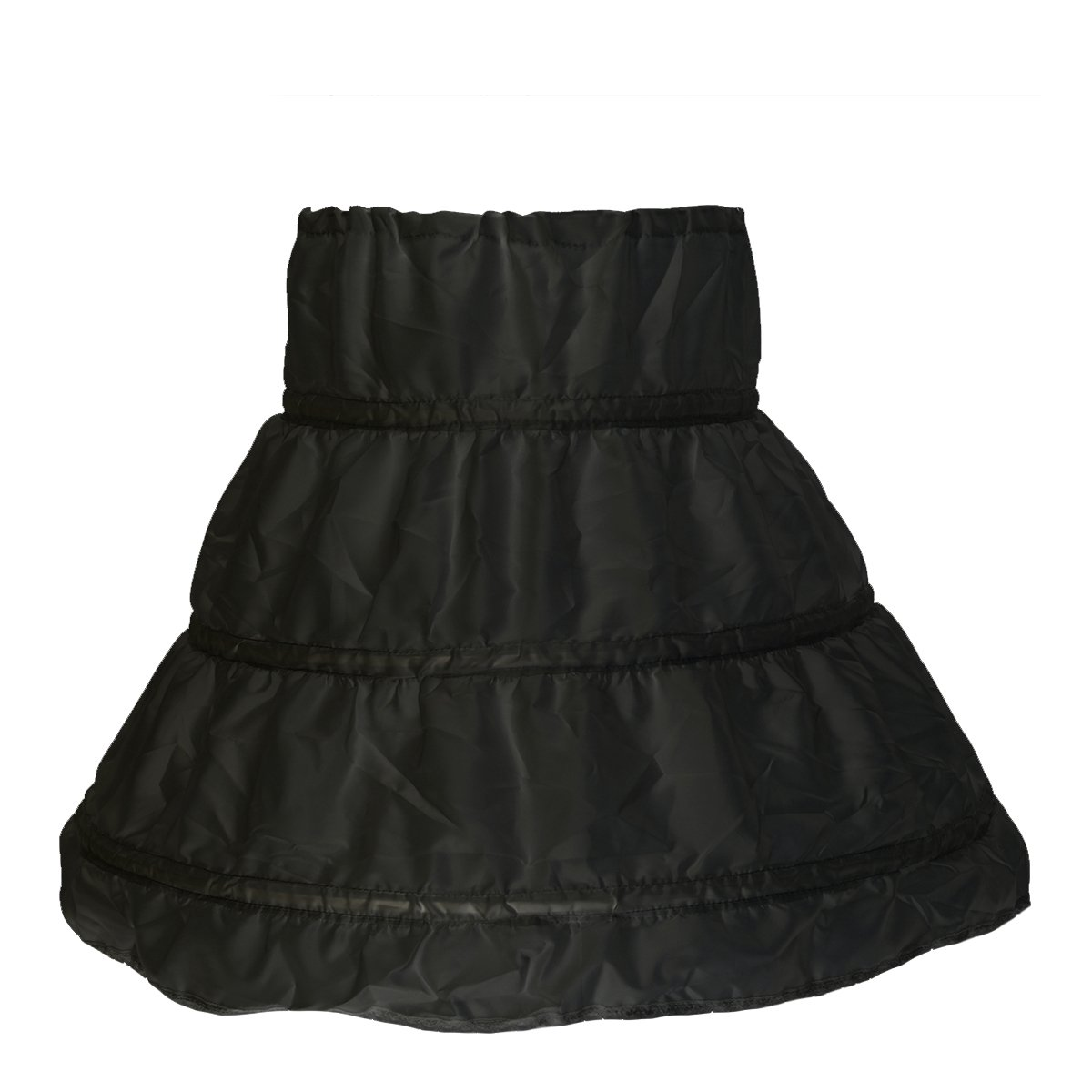2f7620f9d EBTOYS Girls' Petticoat 3 Hoops Crinoline Petticoat Flower Girl Slip  Wedding Underskirt Slip(Black