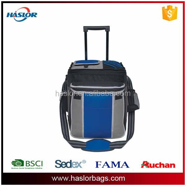 Hot sale and high quality fitness wheels cooler bag promotional