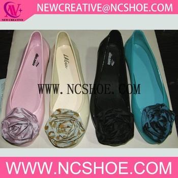 6da24b2bc New Flower Jelly Flat Sandanew Style Women Pvc Sandal Shoe - Buy ...