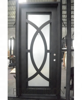 Flat Black Iron Single Entry Doormodern Iron Single Door Design