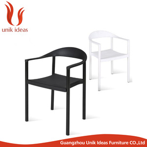 Outdoor Leisure Polypropylene Plastic Chair With Arm