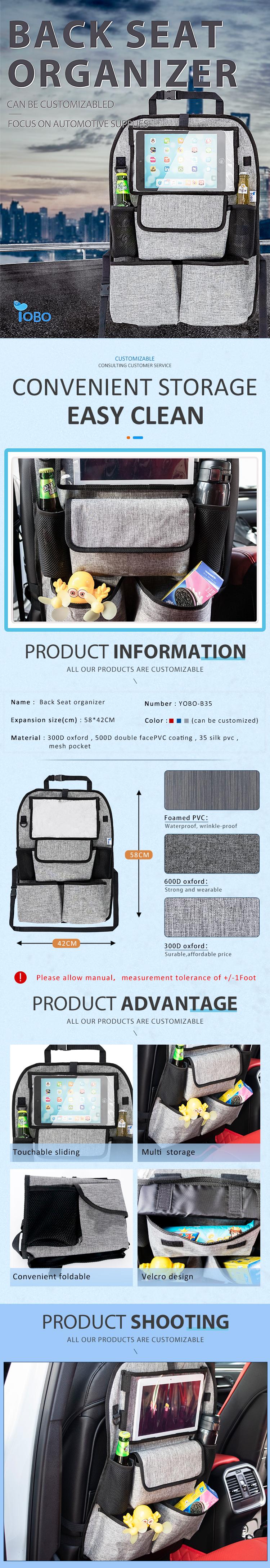 Multi-verwenden Touch-Bildschirm iPad Tablet Halter Auto Rücksitz Organizer Rücksitz Auto Organizer Mit Big Lagerung Taschen