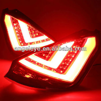 For ford hatchback led strip tail light 2009 2013 year red white v2 for ford hatchback led strip tail light 2009 2013 year red white v2 aloadofball Images