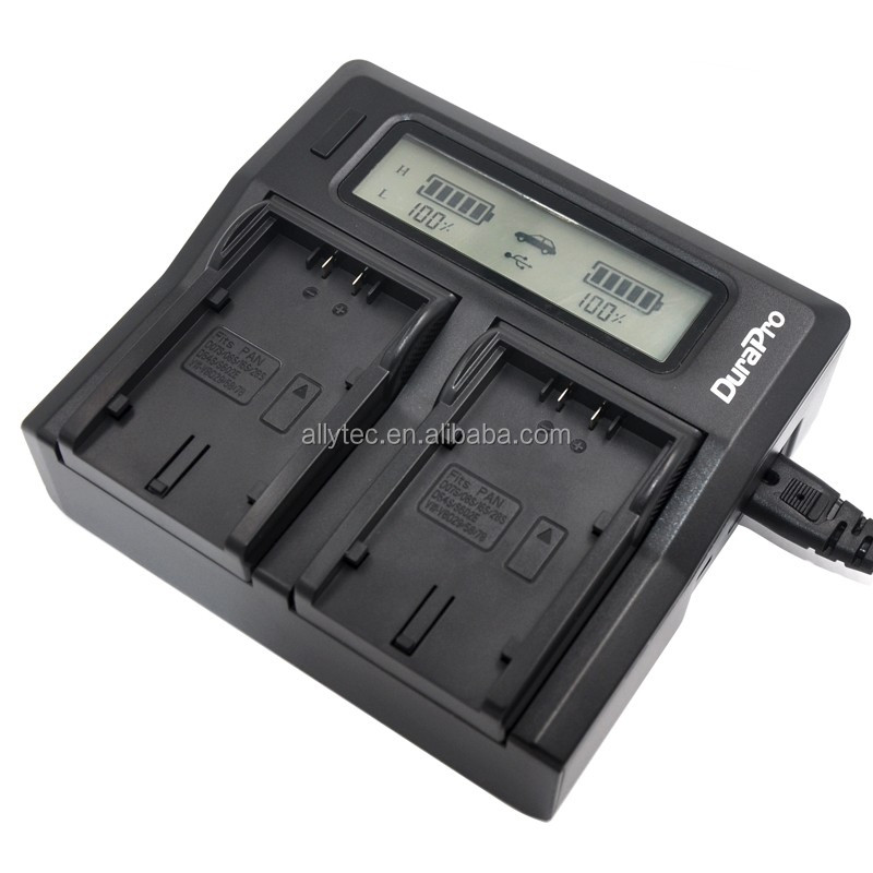 Rapid LCD Dual Channel Battery Charger for Panasonic CGR-D54 VW-VBD55 AG-DVC60 AG-DVX100 AG-DVC30 AG-DVX100A