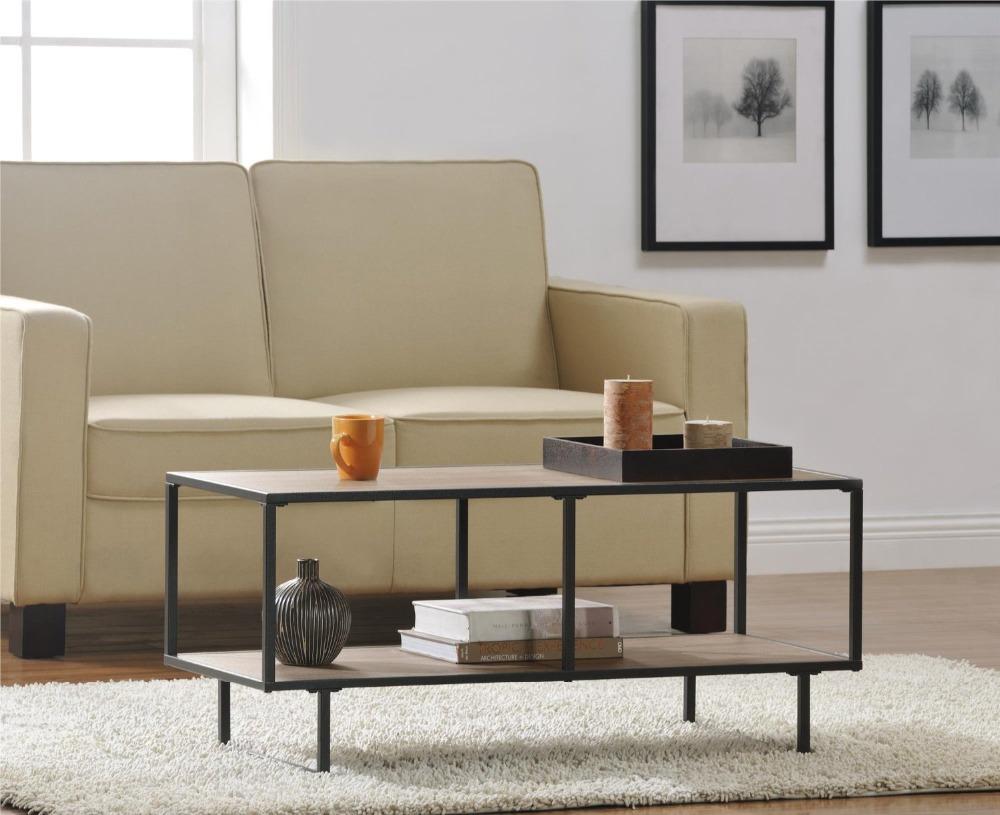 American Style Industriel En M Tal Cadre Tv Stand Table Basse Pour  # Table Pour Tv