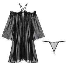 Сексуальная кружевная свободная ночная рубашка с подвязками, низкий обхват груди, принцесса, длинное спальное женское белье, низкий вырез, ...(Китай)